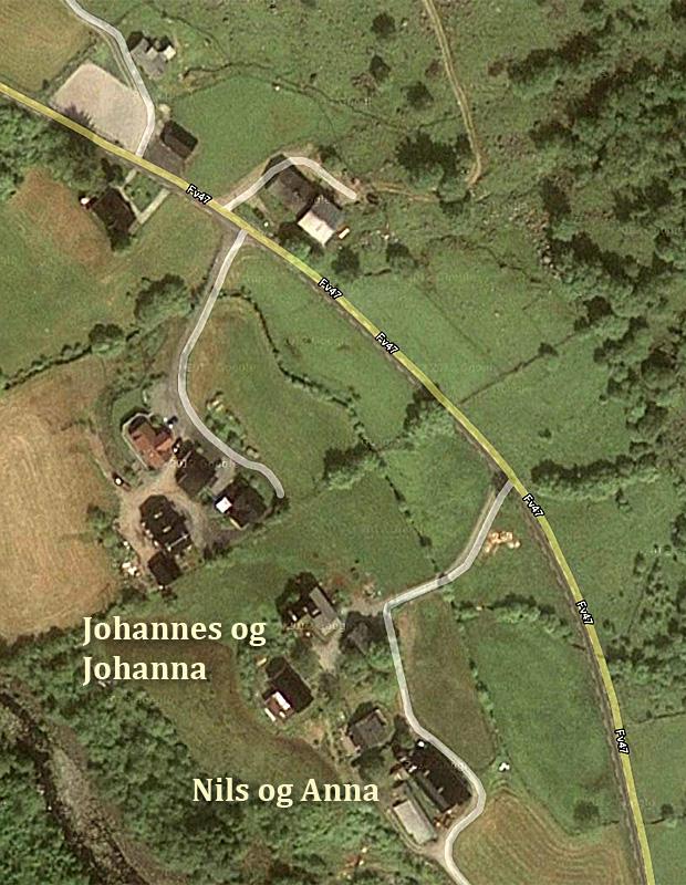 Gardsbruka på Øvre Musland i Uskedalen.